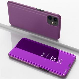 Für Apple iPhone 12 Mini View Smart Cover Hülle Magenta Handy Tasche Wake UP Neu