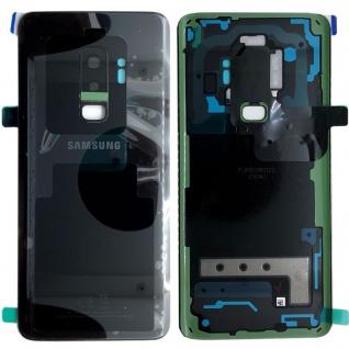 Samsung GH82-15652A Akkudeckel Deckel für Galaxy S9 Plus G965F Klebepad Schwarz
