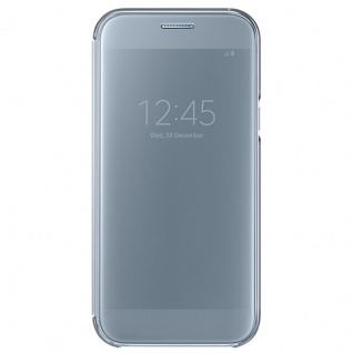 Samsung Clear View Wallet Tasche Kunstleder EF-ZA520 Galaxy A5 A520F 2017 Blau