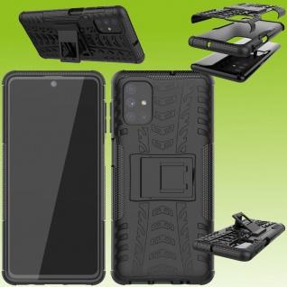 Für Samsung Galaxy M51 M51F Hybrid Case Outdoor Schwarz Handy Tasche Etuis Hülle