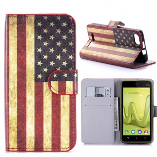 Schutzhülle Muster 10 für Wiko Lenny 3 Bookcover Tasche Hülle Wallet Case Etui