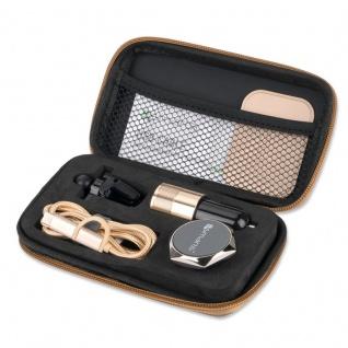 Travel Reise Set KFZ Halterung Halter Lade Kabel Micro USB Typ C Combo Gold