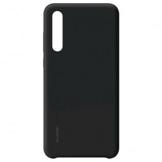 51992844 Case Schwarz für Huawei P30 Original Silikon Tasche Etui Schutz Schale