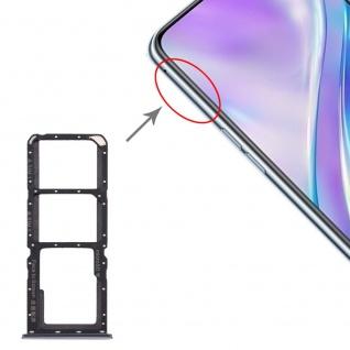 Für OPPO Realme X2 SIM Card Tray + Micro SD Card Tray Karten Halter Silber Neu