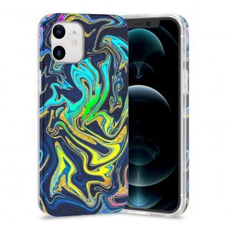 Für Apple iPhone 12 Mini TPU Watercolor Schutz Tasche Hülle Cover Etui Motiv 4