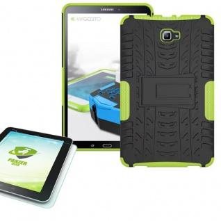 Hybrid Outdoor Tasche Grün für Samsung Galaxy Tab A 10.1 T580 + 0.4 Hartglas