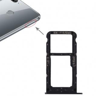 Für Huawei Honor 9 Lite Karten Halter Sim Tray Schlitten Holder Schwarz Ersatz