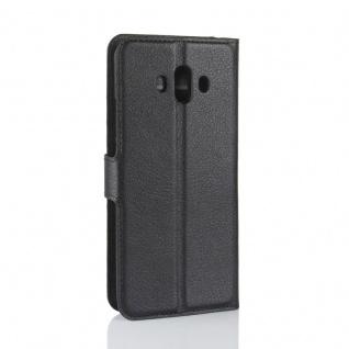 Tasche Wallet Premium Schwarz für Huawei Mate 10 Hülle Case Cover Etui Schutz - Vorschau 2