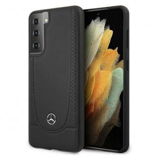 Mercedes Samsung Galaxy S21 Plus Urban Line Leder Case Cover Schutzhülle Schwarz