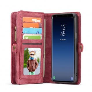 Handy Tasche für Samsung Galaxy S9 Plus G965F CaseMe Hülle Geldbeutel + Etui Rot