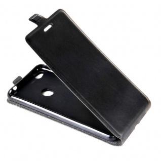 Flip Tasche Schwarz für Huawei New P8 Lite 2017 Hülle Case Etui Neu Schutz Top - Vorschau 4