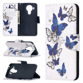 Für Nokia 5.4 Kunst-Leder Handy Tasche Motiv 2 Hülle Case Etuis Cover Schutz