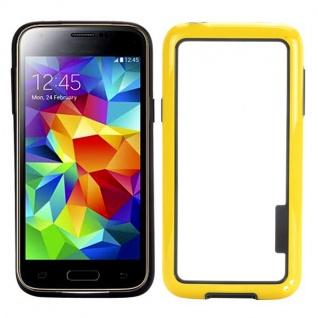 Bumper Gelb Hülle Case Schale Tasche für Samsung Galaxy S5 Mini G800 G800F A Neu