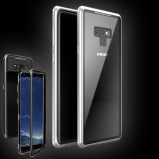 Für Samsung Galaxy Note 9 Magnet / Metall / Glas Silber / Transparent Tasche