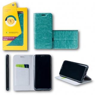 Für Huawei P20 Flip / Smart Cover Blau Case Schutz Etui Tasche Hülle Schutz Neu