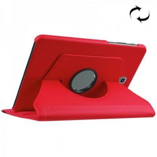 Schutzhülle 360 Grad Rot Tasche für Samsung Galaxy Tab S2 8.0 T710 T715N Hülle