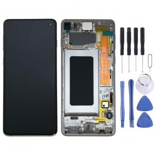 Samsung Display Full LCD Komplettset GH82-18850B Weiß für Galaxy S10 G973F 6.1