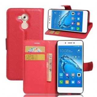 Tasche Wallet Premium Rot für Huawei Honor 6C Hülle Case Cover Etui Schutz Neu