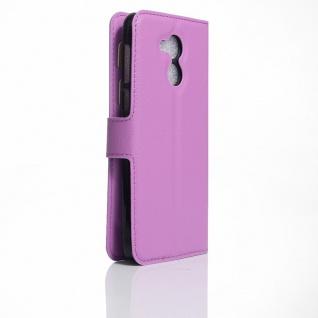Tasche Wallet Premium Lila für Huawei Honor 6C Hülle Case Cover Etui Schutz Neu - Vorschau 2