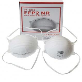 100x Hochwertige Atem Schutzmaske Atemschutzmaske FFP2 Schutz Maske Zubehör Neu - Vorschau 2