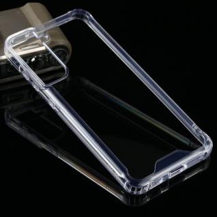 Für Samsung Galaxy S21 FE PU / TPU Handy Tasche Transparent beidseitig Hülle Neu