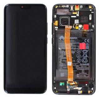 Huawei Display LCD Rahmen für Honor 10 Service 02351XBM Schwarz Batterie Akku