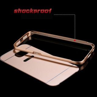 Alu Bumper 2 teilig mit Abdeckung Gold für Samsung Galaxy S6 Edge G925F Tasche - Vorschau 3