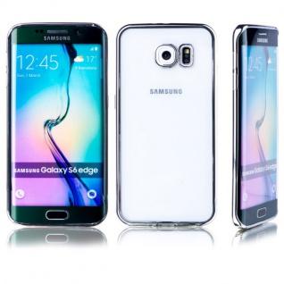 Premium TPU Schutzhülle Silber für Samsung Galaxy S6 Edge G925 G925F Tasche Neu