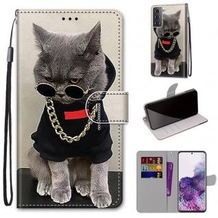 Für Samsung Galaxy S21 Plus 5G Kunst-Leder Handy Tasche Motiv 2 Hülle Etui Cover