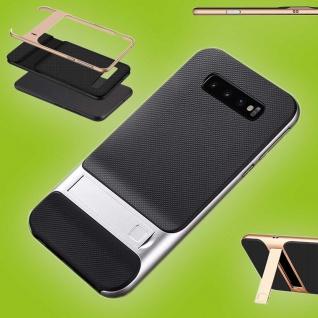 Für Samsung Galaxy S10 Plus Standing Hybrid Silber Tasche Etuis Hülle Outdoor