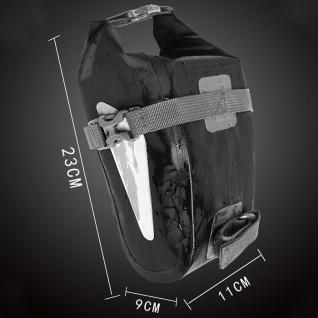 Outdoor Multifunktion Handy Schwarz Black Fahrrad Tasche PVC Bag Tool Zubehör - Vorschau 2