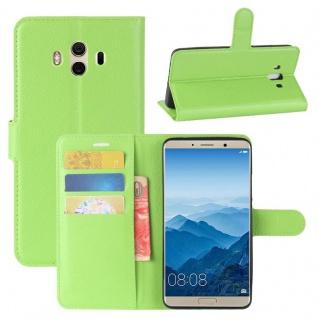 Tasche Wallet Premium Grün für Huawei Mate 10 Hülle Case Cover Etui Schutz Neu