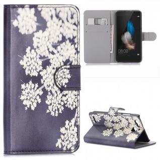 Schutzhülle Muster 34 für Huawei P9 Bookcover Tasche Case Hülle Wallet Etui Neu
