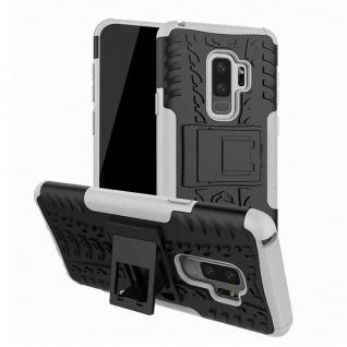 Hybrid Case 2teilig Outdoor Weiß Tasche Hülle für Samsung Galaxy S9 G960F Hülle