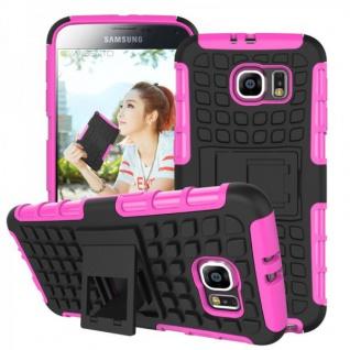 Hybrid Case 2 teilig Robot Pink für Samsung Galaxy S6 G920 G920F Hülle Case Neu