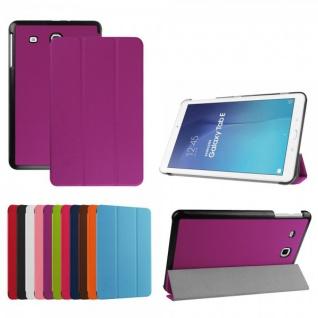 Smartcover Lila Cover Tasche für Samsung Galaxy Tab E 9.6 T560 Hülle Case Schutz