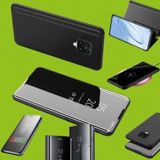 Für Xiaomi Mi Note 10 Lite View Smart Cover Schwarz Handy Tasche Etuis Wake UP