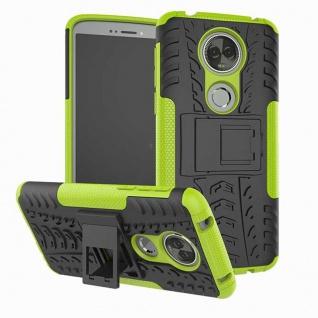 Für Motorola Moto E5 Plus Hybrid Case 2teilig Outdoor Grün Etui Tasche Hülle Neu