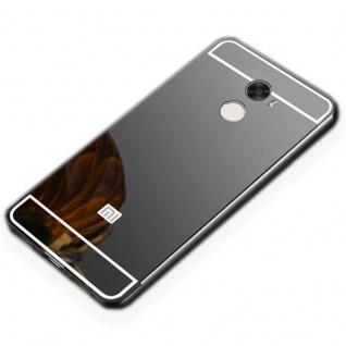 Spiegel / Mirror Alu Bumper Schwarz für Xiaomi Redmi 5 Plus / Note 5 Tasche Case