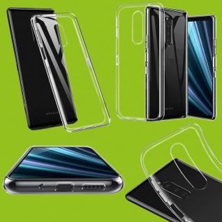 Schutzhülle TPU Transparent Tasche für Sony Xperia 1 6.5 Hülle Cover Etui Case