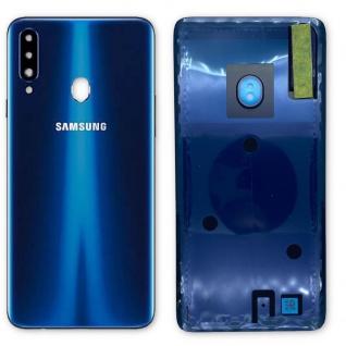 Samsung Akkudeckel Akku Deckel Batterie Cover Galaxy A20s GH81-19447A Blau