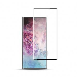 Für Samsung Galaxy Note 10 Plus 2x 4D Display 0, 3 mm H9 Hart Glas Schwarz Curved