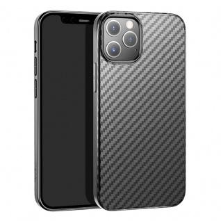 HOCO Apple iPhone 12 / 12 Pro Carbon Schutzhülle Schwarz Case Cover Hülle Etui
