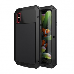 LUNATIK Outdoor Metall Bumper für Apple iPhone X 5.8 Zoll Schutzhülle Schwarz