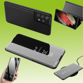 Für Samsung Galaxy A32 5G View Smart Cover Hülle Schwarz Handy Tasche Etuis Case