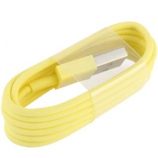 USB Datenkabel Gelb IOS 7 / 8 für Apple iPhone 5 5S 5C iPad 4 Air Mini Retina Neu - Vorschau 3