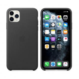 Apple Leather Case für iPhone 11 Pro Max Schwarz Tasche Schutz Hülle Case Etui