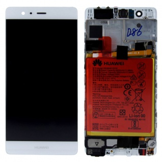 Huawei Display LCD Einheit Rahmen für P9 Service Pack 02350RKF Weiß Reparatur
