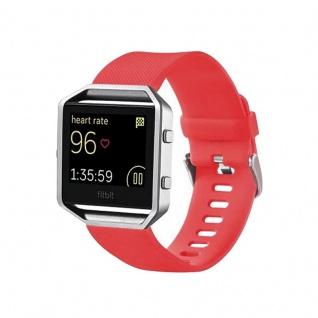 Kunststoff / Silikon Uhr Armband für Fitbit Blaze Watch Rot Zubehör 17-20 cm neu