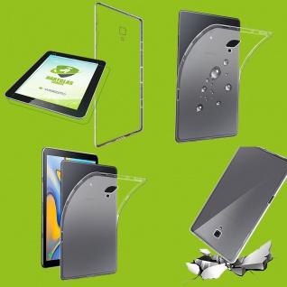 Für Samsung Galaxy Tab S4 10.5 Transparent Hülle Tasche Cover + H9 LCD Hart Glas
